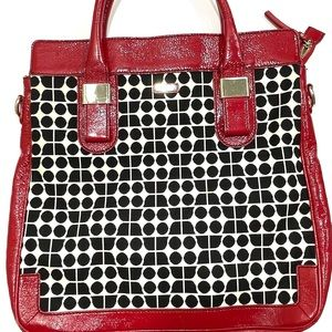 Kate Spade Red Patent Leather Geometric Bag
